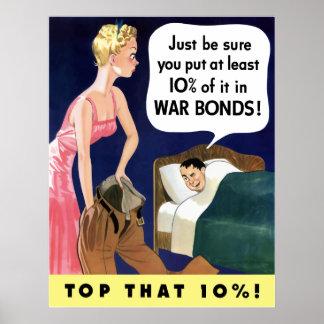 Póster Poster de los enlaces de guerra del vintage WW2