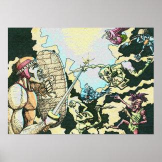 Póster Poster de los Goblins del combatiente v