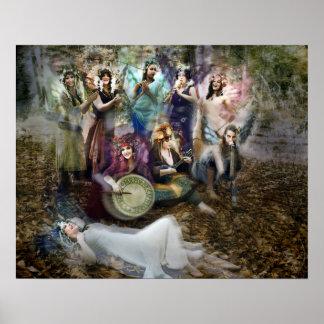 Póster Poster de los músicos del Faerie de Cheryl justo
