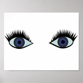 Póster Poster de los ojos azules