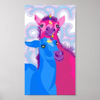 Póster Poster de los unicornios del bebé
