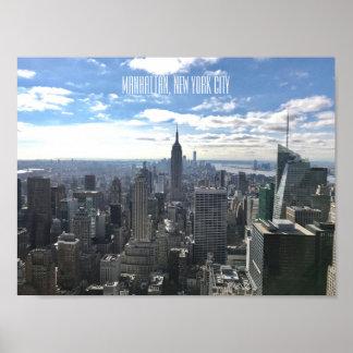 Póster Poster de Manhattan Nueva York