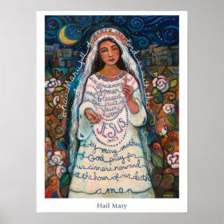 """Póster Poster de Maria del saludo, 18x24 """""""