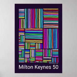 Póster Poster de Milton Keynes 50 (años de) de Roberto