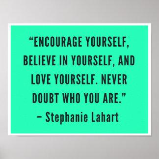 Póster Poster de motivación de las citas de Stephanie