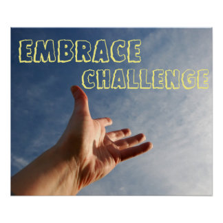 Póster Poster de motivación del desafío del abrazo