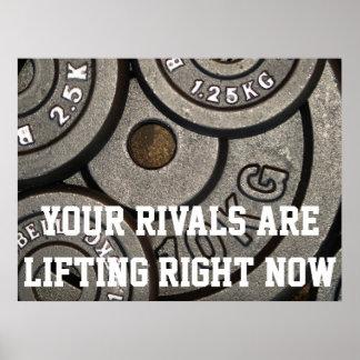 Póster Poster de motivación del levantamiento de pesas