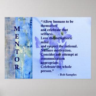 Póster Poster de motivación del mentor