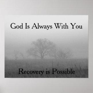 Póster Poster de motivación/fe de la recuperación basada