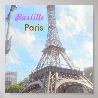 Póster Poster de París del Bastille