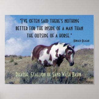 Póster Poster de Picasso con la cita de Reagan
