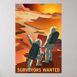 Póster Poster de reclutamiento de la NASA Marte -