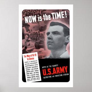 Póster Poster de reclutamiento del ejército WW2