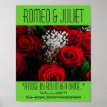 Póster Poster de Romeo y de Juliet un festival color de r