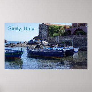 Póster Poster de Sicilia Italia