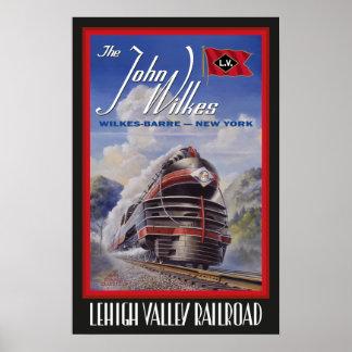 Póster Poster de Streamliner del valle de Lehigh