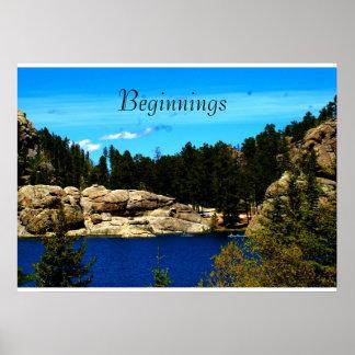 Póster Poster de Sylvan del lago de Dakota del Sur/de