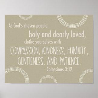 Póster Poster del 3:12 de Colossians