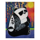 Póster Poster del amo de zen de la panda