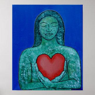 Póster Poster del amor del uno mismo