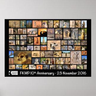 Póster Poster del aniversario de FKMP 10mo - seleccione