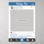Póster Poster del apoyo del fiesta del marco de Instagram