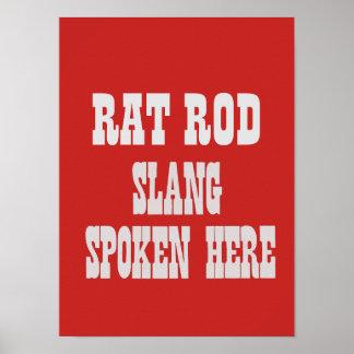Póster Poster del argot de la barra de la rata