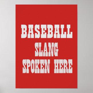 Póster Poster del argot del béisbol