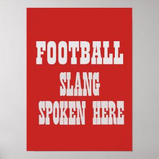 Póster Poster del argot del fútbol