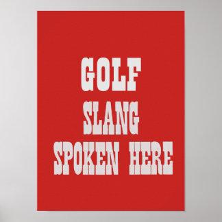 Póster Poster del argot del golf