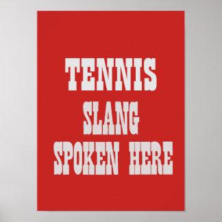 Póster Poster del argot del tenis