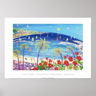 Póster Poster del arte: Sol en el paraíso, Menton Francia