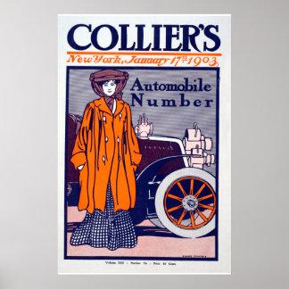 Póster Poster del automóvil de la revista del minero