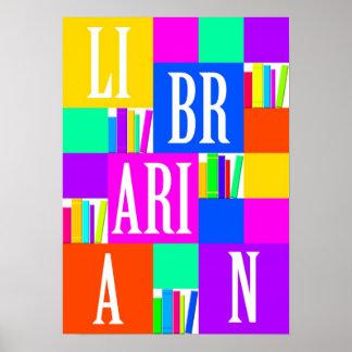 Póster Poster del bibliotecario