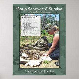 Póster Poster del bocadillo de la sopa