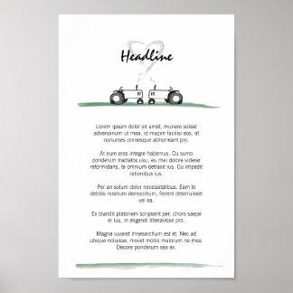 Póster Poster del boda/plantilla del menú
