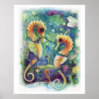 Póster Poster del caballo de mar