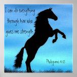 Póster poster del caballo del 4:13 de los filipenses del