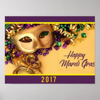 Póster poster del carnaval New Orleans 2017