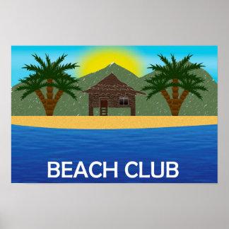 Póster Poster del club de la playa