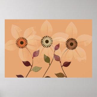 Póster Poster del collage del otoño del extracto de la