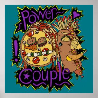 Póster Poster del color de los pares del poder