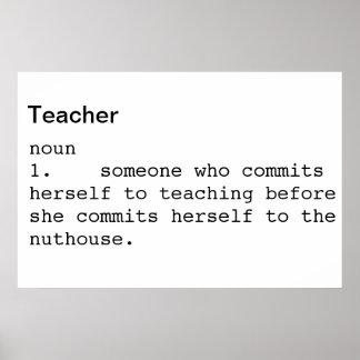 Póster Poster del compromiso de enseñanza