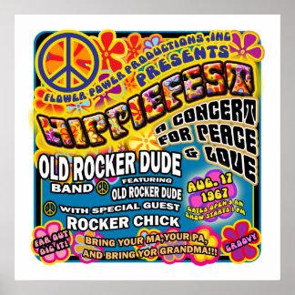 Póster Poster del concierto de Hippiefest