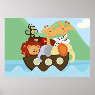 Póster Poster del cuarto de niños del bebé de la arca de