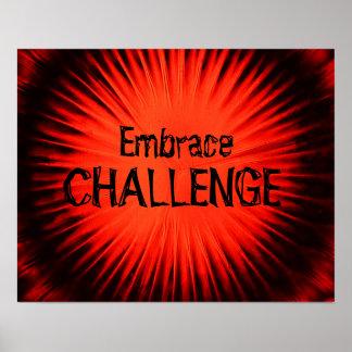 Póster Poster del desafío del abrazo