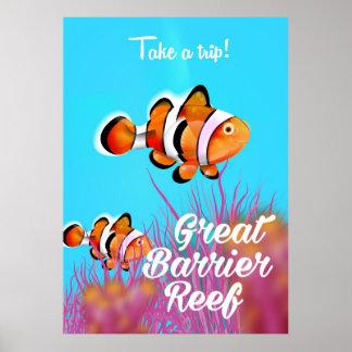 Póster Poster del dibujo animado de los pescados del