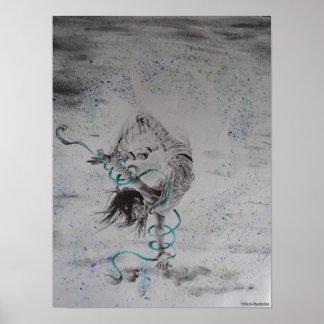 Póster Poster del dibujo del bailarín de la rotura