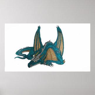 Póster poster del dragón el dormir