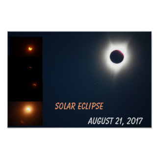 Póster Poster del eclipse solar